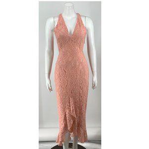 NEW NBD x Naven Lace Midi Dress Pink Small A86